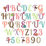 Girly Alphabet Vector Set Royalty Free Stock Image