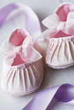 Girly baby shoes Stock Photos