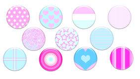 Girly Badges Royalty Free Stock Photography