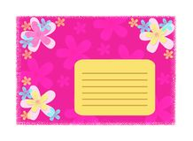 Girly card royalty free illustration