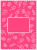 Girly card. A greeting card with pink girly design Stock Photo