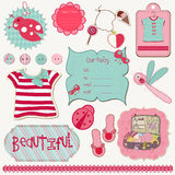 Girly Design Elements for scrapbook Stock Photography