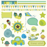 Girly design elements for scrapbooking Royalty Free Stock Images