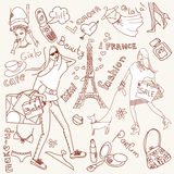 Girly doodles Royalty Free Stock Photo