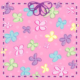 Girly Flowers with Ribbon & Bow Royalty Free Stock Photo