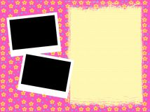 Girly framework. Colorful girly template insert your text and photos Stock Image