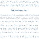 Girly hand drawn decoration line set 04 Stock Image
