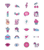 Girly icon image. Assorted girly icons image vector illustration design Stock Photo
