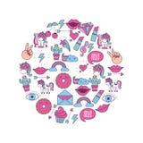 Girly icon image Stock Photo