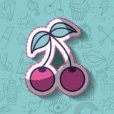 Girly icon over background image Royalty Free Stock Photo