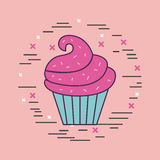 Girly icon over background image Royalty Free Stock Images