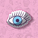 Girly icon over background image Stock Photos