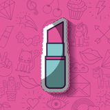 Girly icon over background image Royalty Free Stock Photos