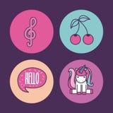 Girly icon over background image Stock Photography