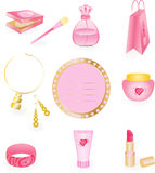 Girly Icon Set Stock Photography