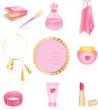 Girly Icon Set Stock Photography