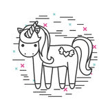 Girly ikona nad tło wizerunkiem Obraz Royalty Free