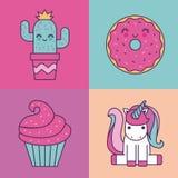 Girly ikona wizerunek Zdjęcia Royalty Free
