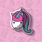 Girly Ikone über Hintergrund Stockfoto