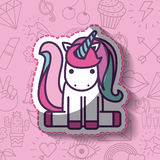Girly Ikone über Hintergrund Stockbild