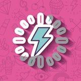 Girly Ikone über Hintergrund Lizenzfreie Stockfotografie