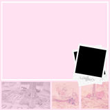 Girly layout. Girly elegant pink layout with polaroids stock illustration