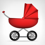 Girly red stroller object isolated vector Stock Images