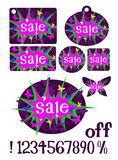 Girly Sale Tags Stock Image