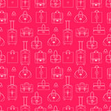 Girly seamless vector background with shopping Stock Photography