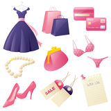 Girly Shopping Royalty Free Stock Photo