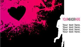 Girly Silhouette And Pink Stain Royalty Free Stock Photos
