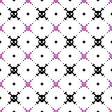 Girly skull and bones pattern Stock Images