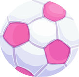Pink Soccer Ball. Pink and white soccer ball Royalty Free Stock Photo