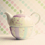 Girly Teapot Royalty Free Stock Photography
