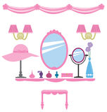 Girly wall decoration Stock Photography