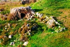 Girna -一个马尔他瓦砾小屋 免版税库存照片
