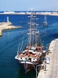 塞浦路斯北girne的海滨广场 免版税库存照片