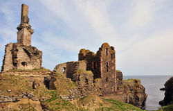 Girnigoe and Sinclair Castle Stock Images