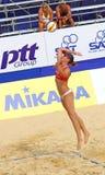 Giro 2011 del mondo del CAMPIONE FIVB di pallavolo della spiaggia Fotografia Stock Libera da Diritti