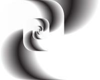 Giro abstracto del fractal como insignia, fondo Imagenes de archivo