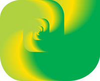 Giro abstracto del fractal como insignia, fondo Fotografía de archivo libre de regalías