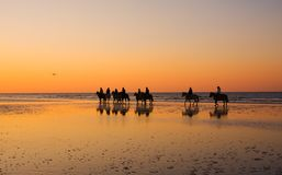 Giro al tramonto Immagine Stock