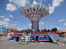 Giro all'aperto del parco di divertimenti di carnevale Fotografia Stock Libera da Diritti