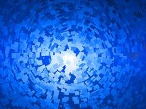 Giro azul de los cuadrados libre illustration