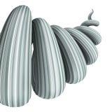 Giro azul gris abstracto 3D en el fondo blanco Imágenes de archivo libres de regalías