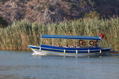 Giro in barca in Dalyan Fotografia Stock