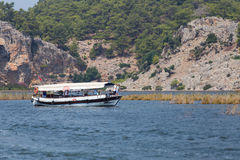 Giro in barca in Dalyan Fotografia Stock Libera da Diritti