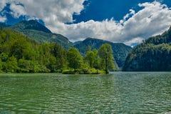 Giro in barca del lago Konigsee Immagini Stock Libere da Diritti