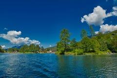 Giro in barca del lago Konigsee Immagini Stock