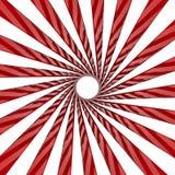 Giro blanco y rojo stock de ilustración